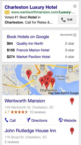 Paid search on mobile