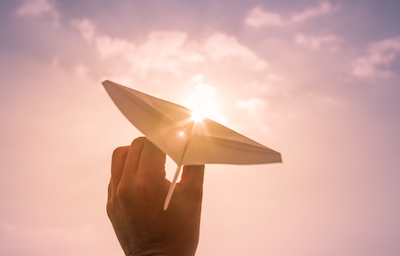 Hope is not a business strategy: Man launches paper airplane