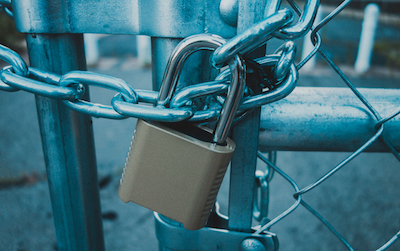 Gatekeepers gonna gate: Locked gate image